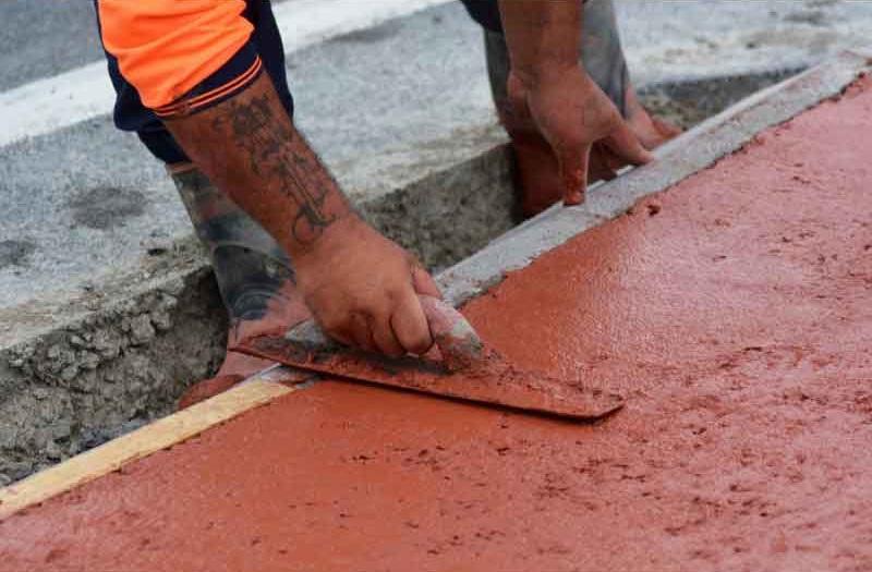 concrete sidewalk patterns